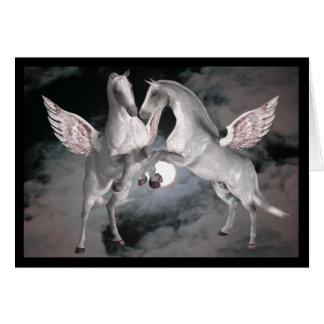Plein Moom carte photo de chevaux d'imaginaire de