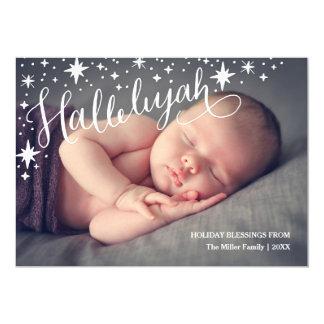 Plein Noël religieux de la photo | d'alléluia Carton D'invitation 12,7 Cm X 17,78 Cm