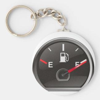 Plein réservoir de gaz porte-clé rond