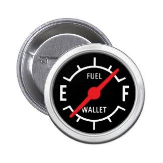 Plein réservoir, portefeuille vide badge rond 5 cm
