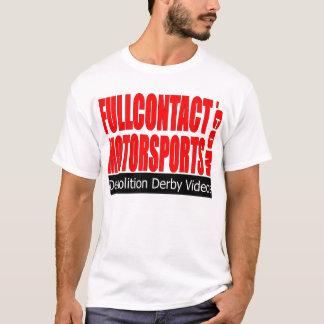 Plein T-shirt de logo de sports mécaniques de