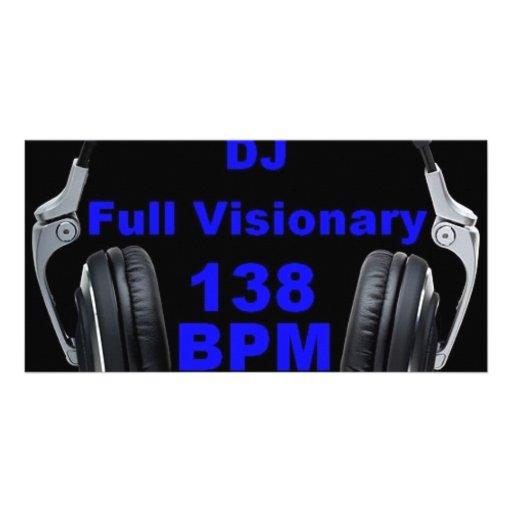 Pleine chemise de Bpm du visionnaire 138 du DJ Cartes Avec Photo