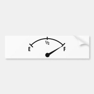 pleine icône d'indicateur de carburant autocollant pour voiture