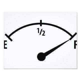 pleine icône d'indicateur de carburant carton d'invitation 10,79 cm x 13,97 cm