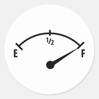 pleine icône d'indicateur de carburant sticker rond