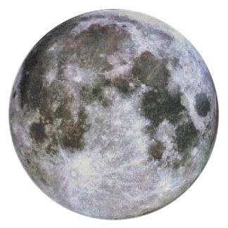 Pleine lune assiettes en mélamine