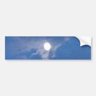 Pleine lune autocollant de voiture