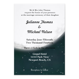 Pleine lune carton d'invitation  12,7 cm x 17,78 cm