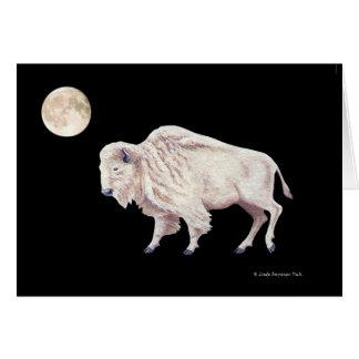 Pleine lune de Buffalo blanc Carte De Vœux