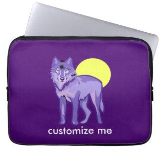 Pleine lune de loup pourpre trousse pour ordinateur portable