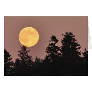 Pleine lune en août 2013 - carte d'art de