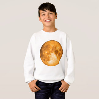 pleine lune orange sweatshirt