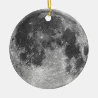Pleine lune ornement rond en céramique
