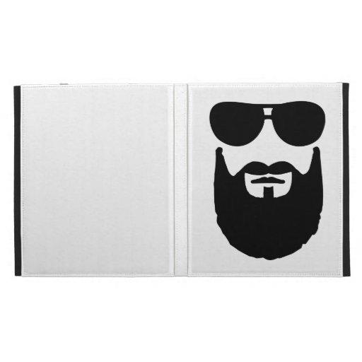 Pleines lunettes de soleil de barbe étui iPad folio