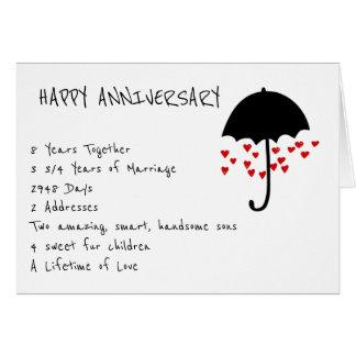 Pleuvoir la carte d'anniversaire d'amour
