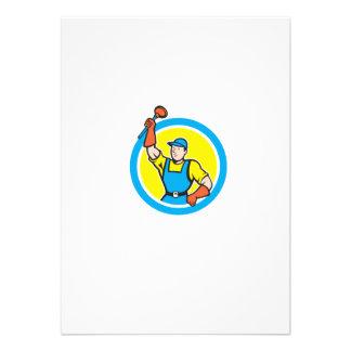 Plombier superbe avec la bande dessinée de cercle faire-parts