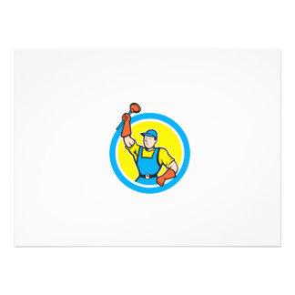 Plombier superbe avec la bande dessinée de cercle bristol personnalisé