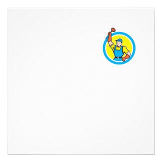 Plombier superbe avec la bande dessinée de cercle cartons d'invitation