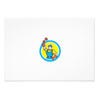 Plombier superbe avec la bande dessinée de cercle invitation personnalisée