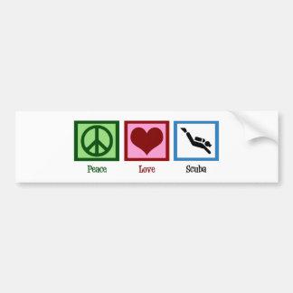 Plongée à l'air d'amour de paix autocollant pour voiture