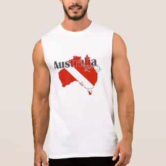 Plongée à l'air d'Austrailia T-shirt Sans Manches
