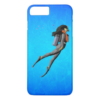 Plongée à l'air de femme coque iPhone 7 plus