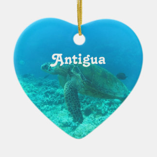 Plongée à l'air de l'Antigua Ornement Cœur En Céramique