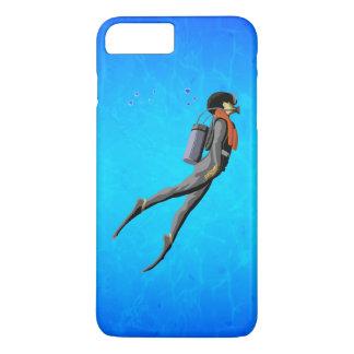 Plongée à l'air d'homme coque iPhone 7 plus