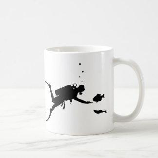 Plongée à l'air mug blanc