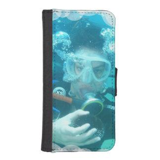 Plongée à l'air coques avec portefeuille pour iPhone 5