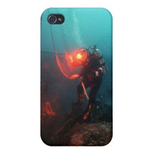 Plongée à l'air sous-marine étuis iPhone 4