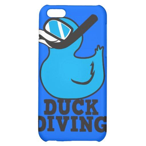 Plongée de canard avec le masque en caoutchouc de  étui iPhone 5C