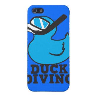 Plongée de canard avec le masque en caoutchouc de étui iPhone 5