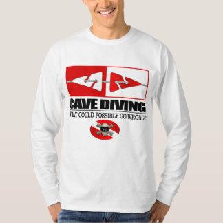 Plongée de caverne (ligne marqueurs) t-shirt
