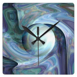 Plongée de perle horloge carrée