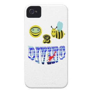 plongée heureuse de 2 abeilles coque iPhone 4