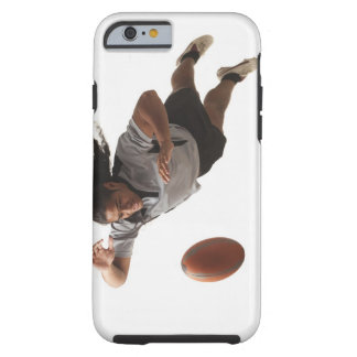 Plongée masculine de joueur de rugby pour la boule coque iPhone 6 tough