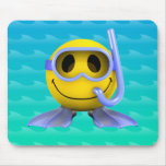 plongeur autonome 3d souriant tapis de souris