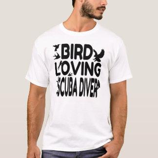 Plongeur autonome affectueux d'oiseau t-shirt