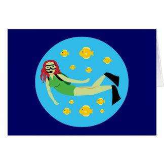 Plongeur autonome carte de vœux