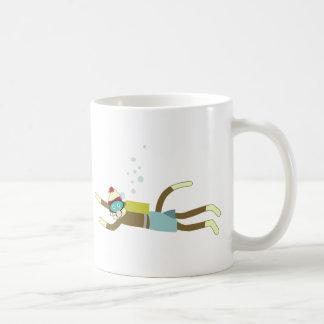Plongeur autonome de singe de chaussette mug