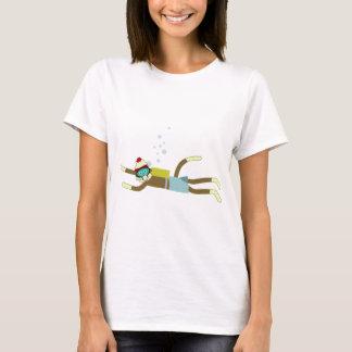 Plongeur autonome de singe de chaussette t-shirt