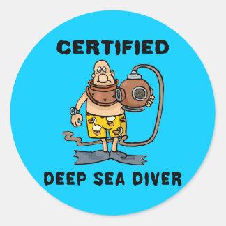 Plongeur certifié de mer profonde autocollants