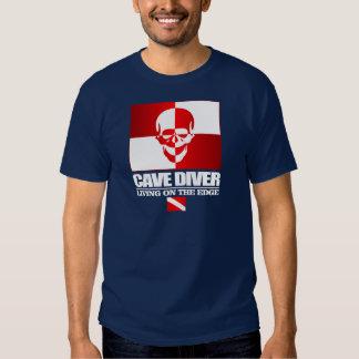 Plongeur de caverne - vivant sur l'habillement de t-shirt