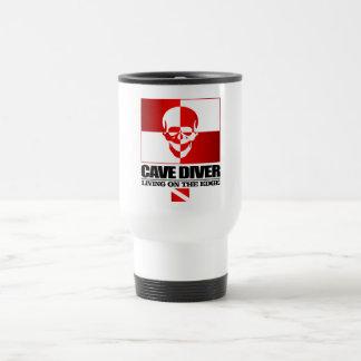 Plongeur de caverne - vivant sur The Edge Mug De Voyage