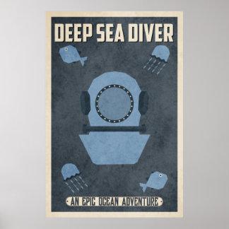 Plongeur de mer profonde (conception de poster
