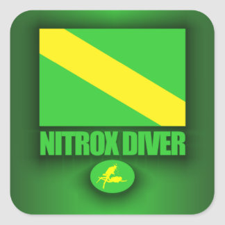 Plongeur de Nitrox Sticker Carré