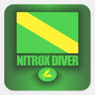 Plongeur de Nitrox Sticker Carré