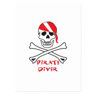 Plongeur de pirate cartes postales