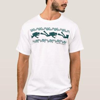 Plongeur et fleurs t-shirt